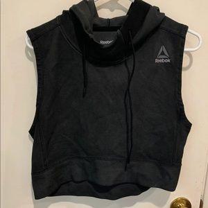 Reebok sleeveless crop top hoodie